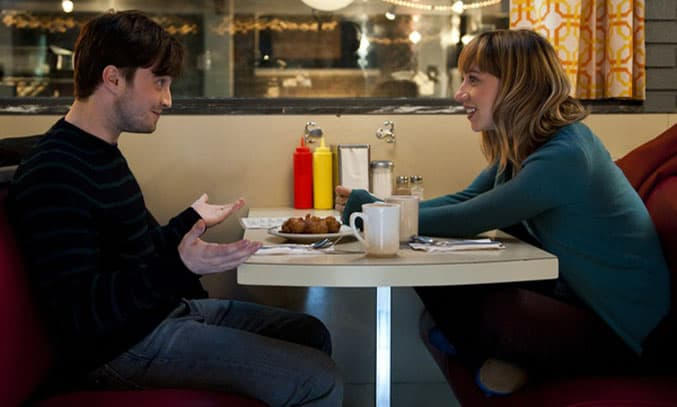 Daniel Radcliffe and Zoe Kazan star in What If. Image Credit: CBS Films