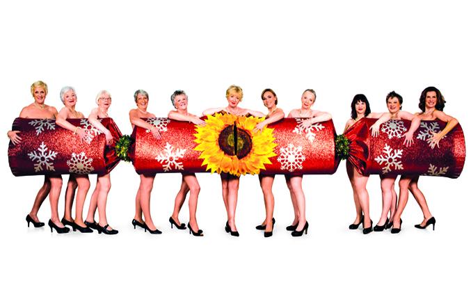 The Original Calendar Girls and the cast of The Girls. Image Credit: Matt Crockett