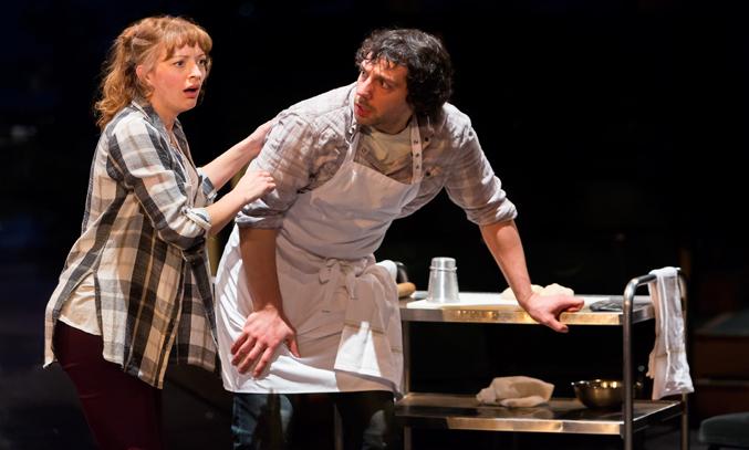 Amy Ellen Richardson (Bakers Wife) and Alex Gaumond (Baker) in INTO THE WOODS. Photo: Jonathan Keenan