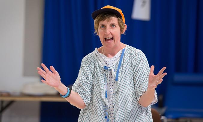 Julie Hesmondhalgh as Dr Vivian Bearing in Wit