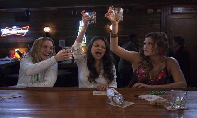 Mila Kunis, Kristen Bell, and Kathryn Hahn in Bad Moms (2016) © 2016 STX Productions