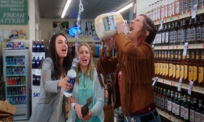 Mila Kunis, Kristen Bell and Kathryn Hahn in BAD MOMS (2016). Image Credit: STX Productions ©