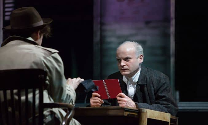 Jack Tarlton as Stillman in Paul Auster's CITY OF GLASS by 59 Productions. Photo by Jonathan Keenan