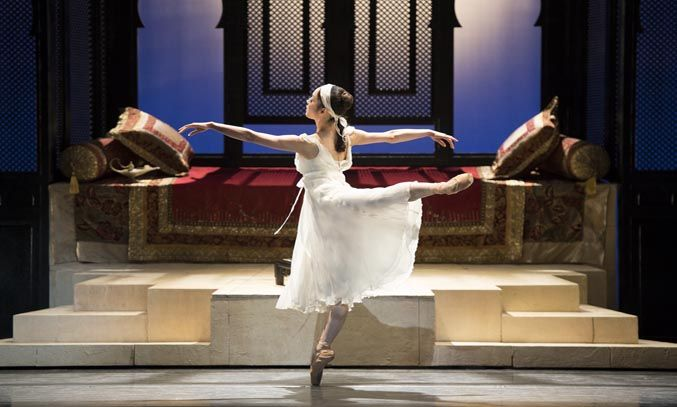 Nao Sakuma as Princess Badr al-Budur in ALADDIN. Photo Credit: Bill Cooper