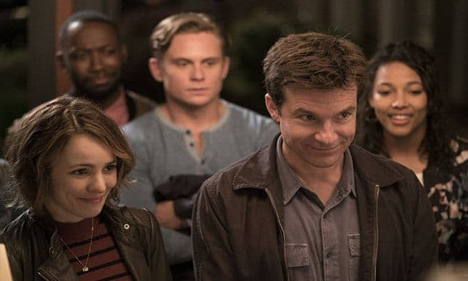 Jason Bateman, Rachel McAdams, Lamorne Morris, Billy Magnussen, and Kylie Bunbury in Game Night (2018)