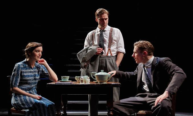 Lauren Samuels as May, Harry Long as Alfie and Dan Parr as Bill in THE BIG CORNER