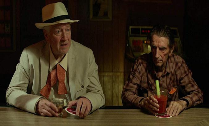 David Lynch and Harry Dean Stanton in Lucky (2017)