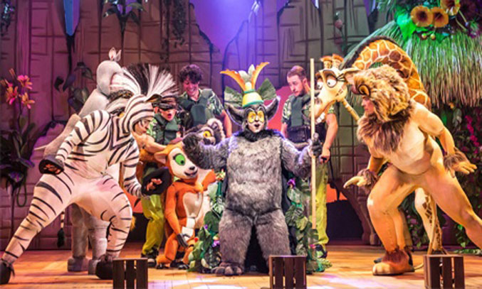 The cast of MADAGASCAR THE MUSICAL. Photo: Scott Rylander