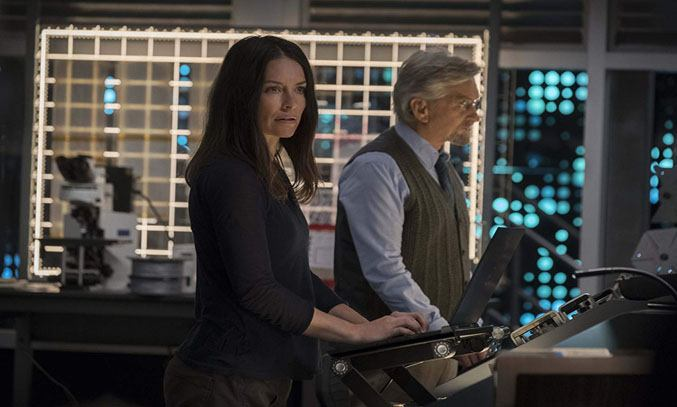 Michael Douglas and Evangeline Lilly in Ant-Man and the Wasp (2018)