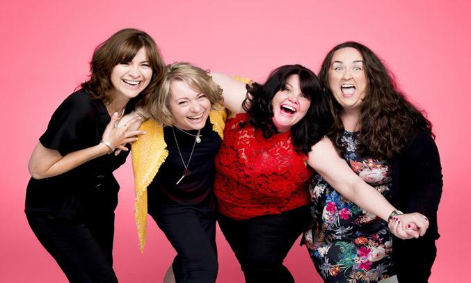 Jayne McKenna, Emily Joyce, Rachel Lumberg and Alison Fitzjohn in THE BAND