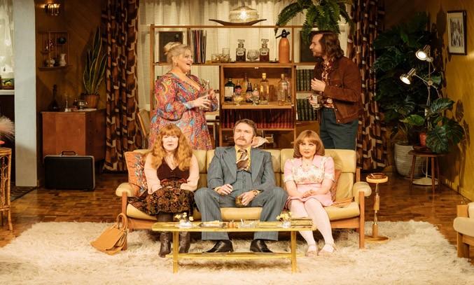 Jodie Prenger, Rose Keegan, Dan Casey, Vicky Binns, Calum Callaghan in ABIGAIL'S PARTY