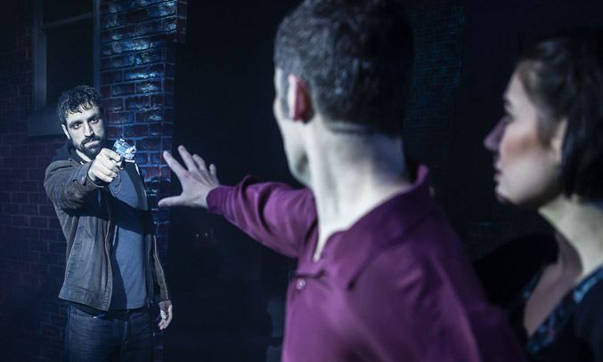 Jules Brown (Willie), Niall Sheehy (Sam) and Rebekah Lowings (Molly) in GHOST THE MUSICAL