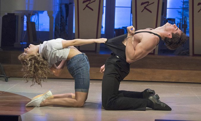 Kira Malou (Baby) Michael O'Reilly (Johnny) in DIRTY DANCING: THE CLASSIC STORY ON STAGE.