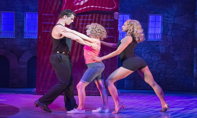 Michael O'Reilly, Kira Malou & Simone Covele in DIRTY DANCING: THE CLASSIC STORY ON STAGE.