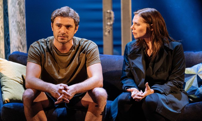 Oliver Farnworth and Samantha Womack in THE GIRL ON THE TRAIN.