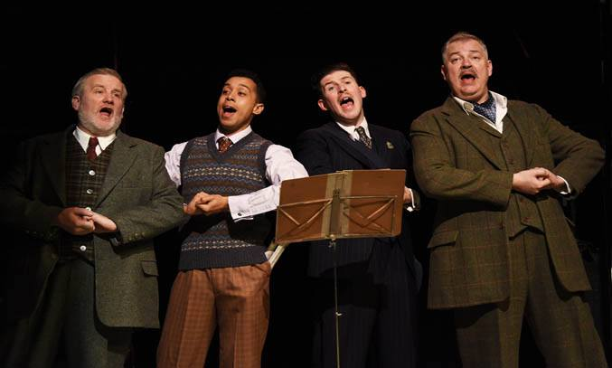Simeon Truby, Linford Jonhson, Robert Wade and Matt Rixon in MUCH ADO ABOUT NOTHING