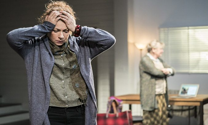 Alex Kingston in ADMISSIONS. Photo Credit: Johan Persson
