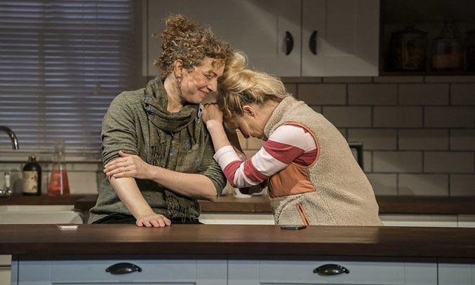 Alex Kingston and Sarah Hadland in ADMISSIONS.
