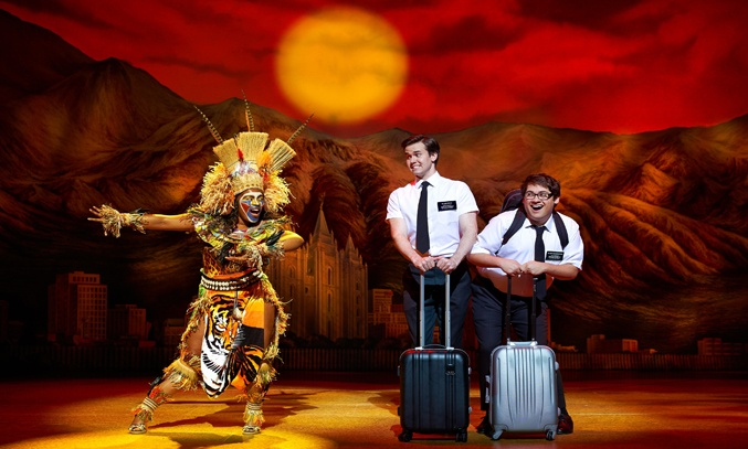 Melissa Brown-Taylor, Kevin Clay and Conner Peirson in THE BOOK OF MORMON UK Tour