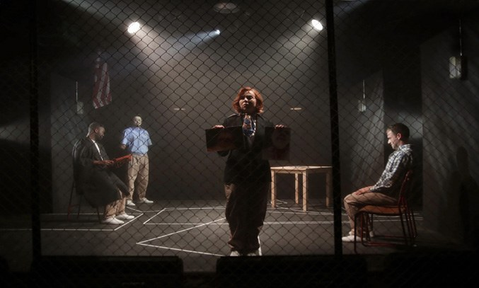 The cast of THE EXONERATED at Hope Mill Theatre