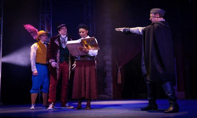 The cast of AROUND THE WORLD IN 80 DAYS. Photo Credit: Grand Theatre, Martin Bostock