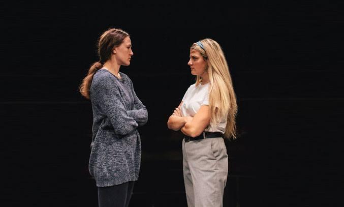 Charlotte Bate and Charlotte O'Leary in DAUGHTERHOOD