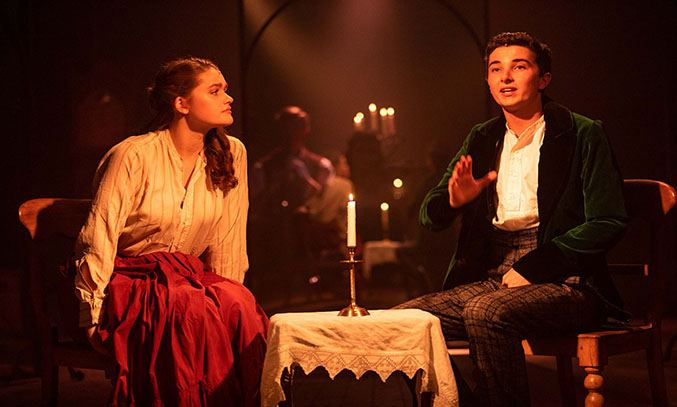 Sammy Graham and Ryan Kopel in The Astonishing Times of Timothy Cratchit