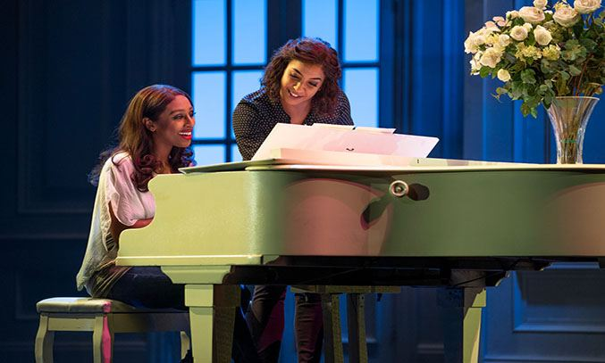 Alexandra Burke and Emmy Willow in THE BODYGUARD. Photo Paul Coltas
