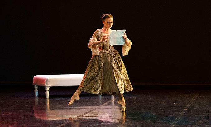 Abigail Prudames as the Marquise in Dangerous Liaisons. Photo Emma Kauldhar